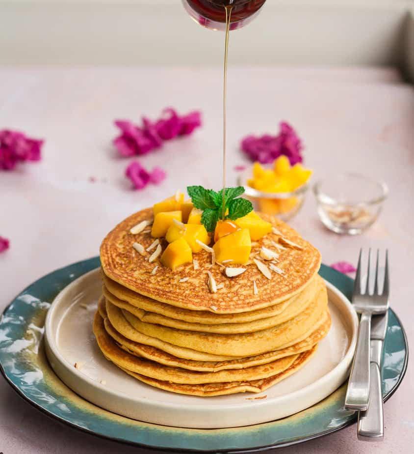 Mango Pancake | Easy vegan mango pancake recipe