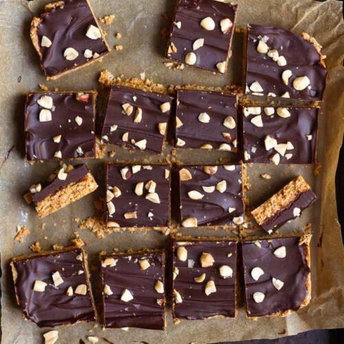 No-Bake Oatmeal Peanut Butter Bars  Easy oatmeal bars recipe