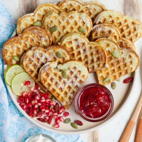 Lemon Poppyseed Waffles | Vegan lemon poppyseed waffles recipe