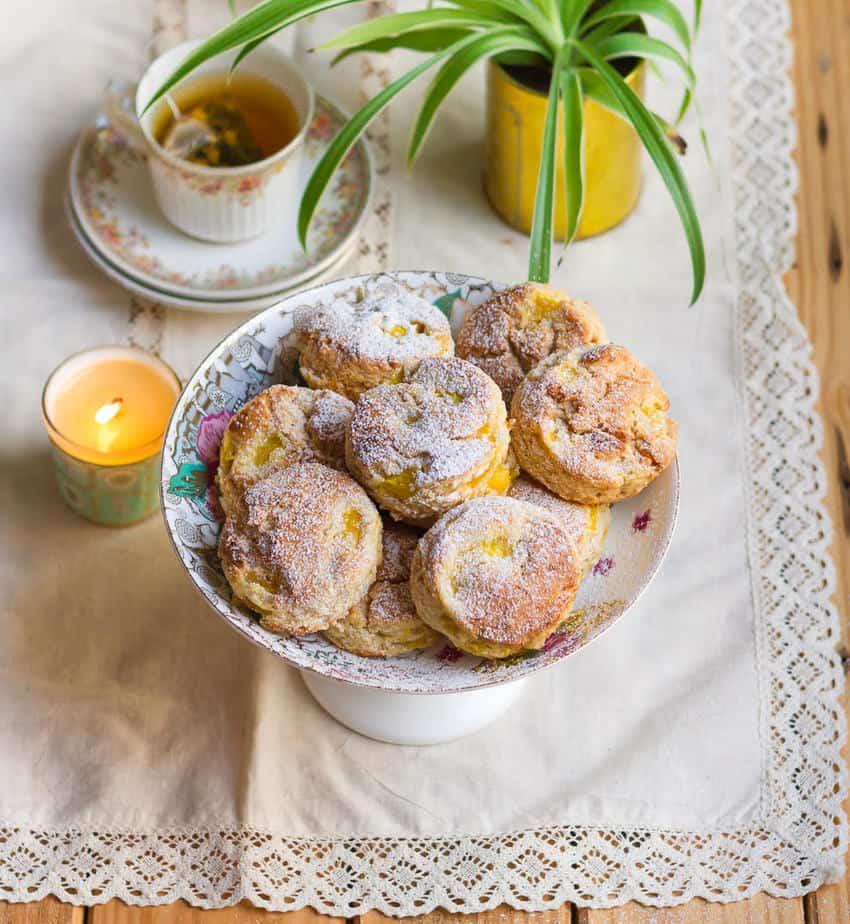 Mango Coconut Scones | Easy Eggless Mango Scones Recipe