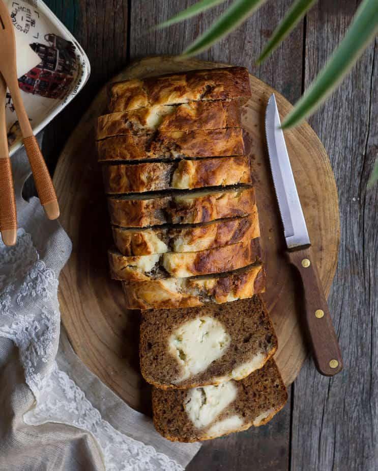 Cream Cheese Swirl Banana Bread | Easy Banana Bread with Cream Cheese