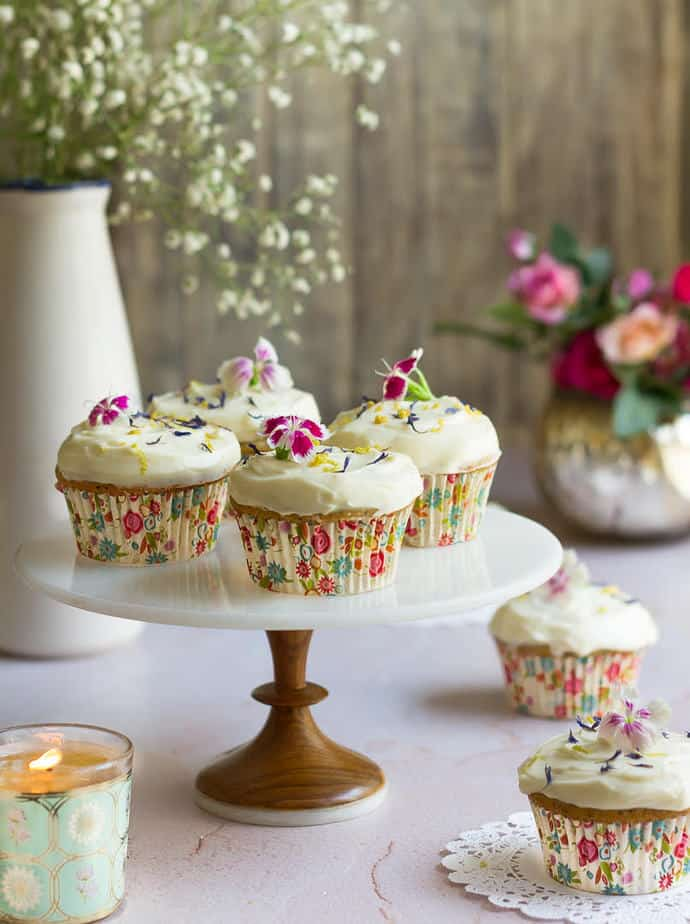 Lemon Poppyseed Cupcakes | Easy Lemon Cupcakes with Cream Cheese Frosting