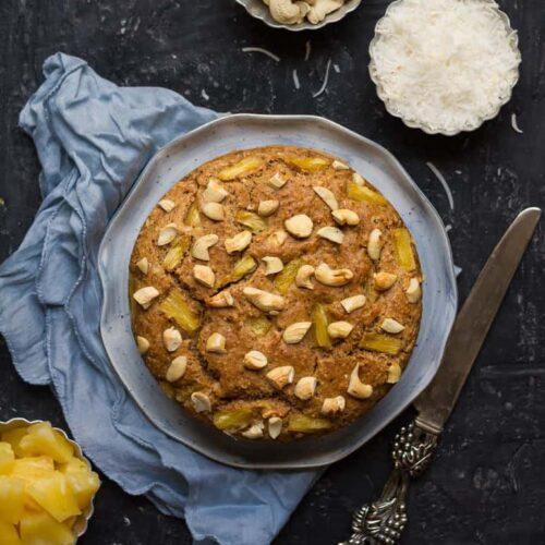 Coconut Pineapple Cake | Easy Vegan Coconut Pineapple Cake