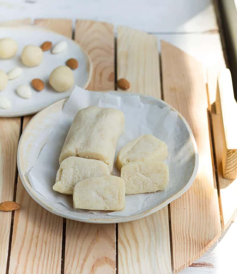 Homemade Marzipan Recipe | Easy vegan 4 ingredient marzipan recipe