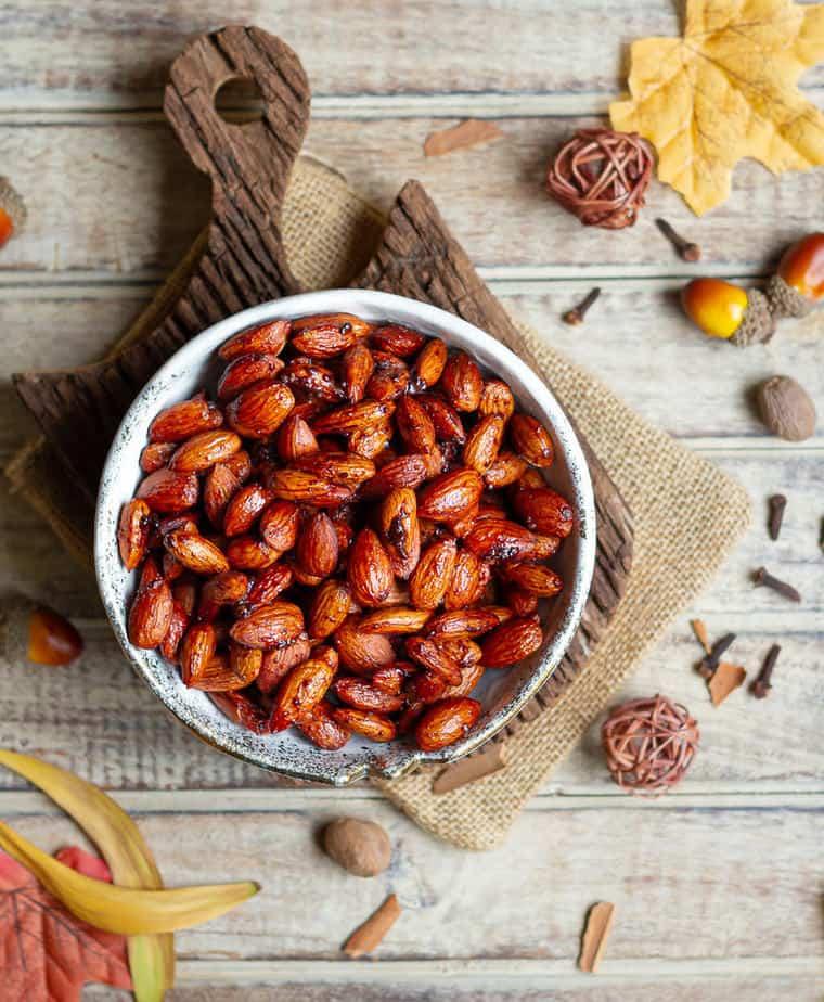 Pumpkin Pie Spiced Almonds | Pumpkin Spiced Roasted Almonds